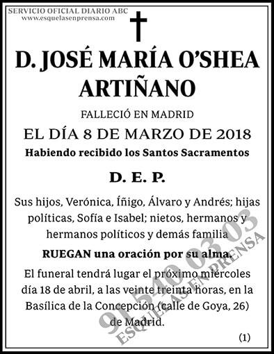 José María O'Shea Artiñano